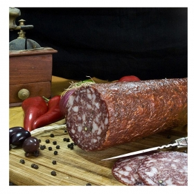 Traditional Smoked Salami from Corfu (coarsely chopped) 900gr