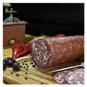 Traditional Smoked Salami from Corfu (coarsely chopped) 1800gr
