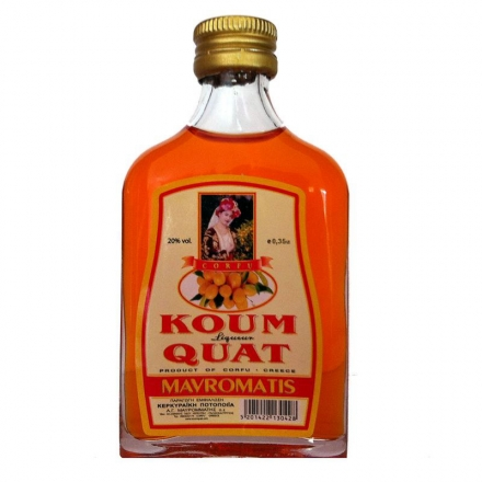 Greek Liqueur Kum Quat Flask 350ml from Corfu