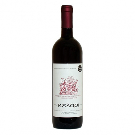 Greek Goulis Kelari Red Wine 750ml from Corfu