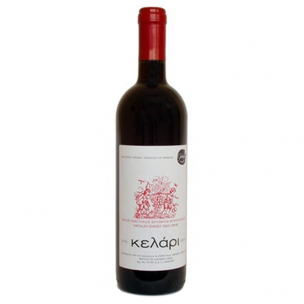 Greek Goulis Kelari Red Sweet Wine 750ml from Corfu
