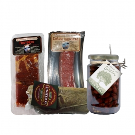 Gift Basket with Cold Cuts