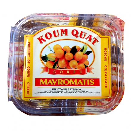 Greek Fruit Glace kumquat from Corfu 1kg (Packaged)